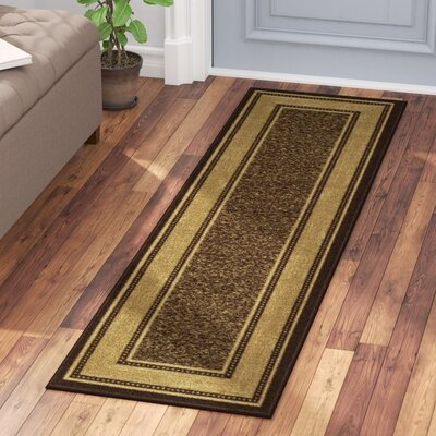 One-of-a-Kind Galesburg Chocolate Area Rug Rug Size: Runner 11 x 7