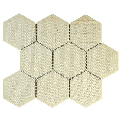 New York Super Hex 3.73 x 3.73 Porcelain Mosaic Tile in Antique White