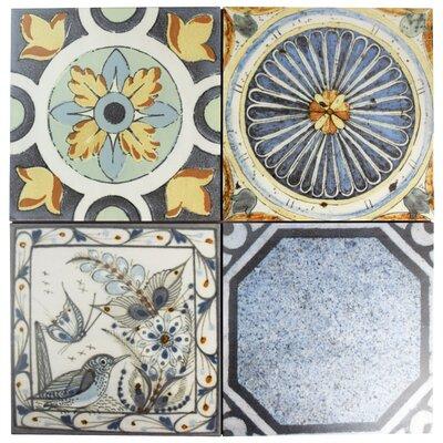 Vintage 12.38 x 12.38 Ceramic Field Tile in Azul Mix
