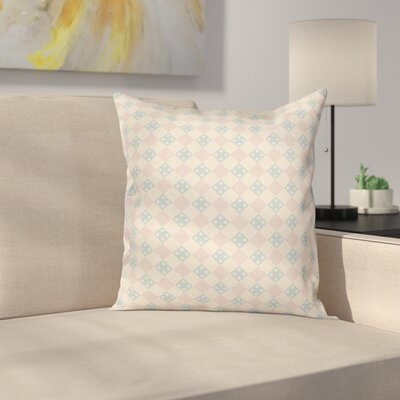 Squares Checked Cushion Pillow Cover Size: 24 x 24