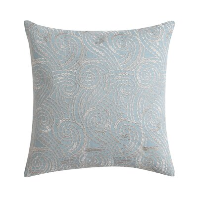 Ombre Lace Square Throw Pillow Color: Blue