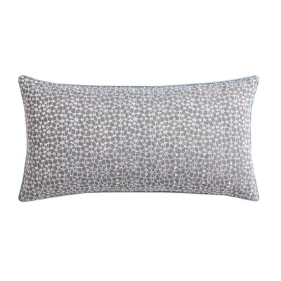 Ombre Lace Eyelet Throw Pillow Color: Blue