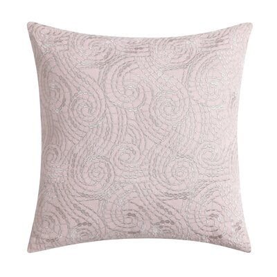 Ombre Lace Square Throw Pillow Color: Pink