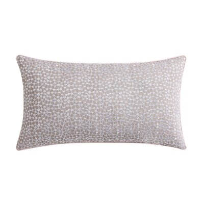 Ombre Lace Eyelet Throw Pillow Color: Pink