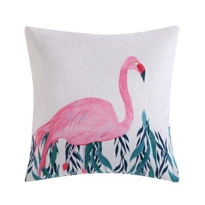 Tropicalia Square Flamingo Throw Pillow