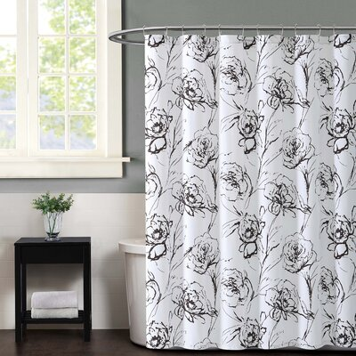Graphic Floral Shower Curtain