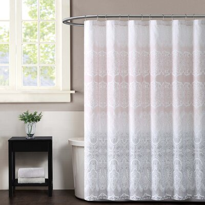 Ombre Lace Shower Curtain Color: Pink