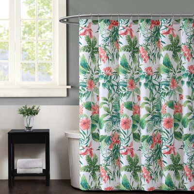 Tropicalia Shower Curtain Color: White
