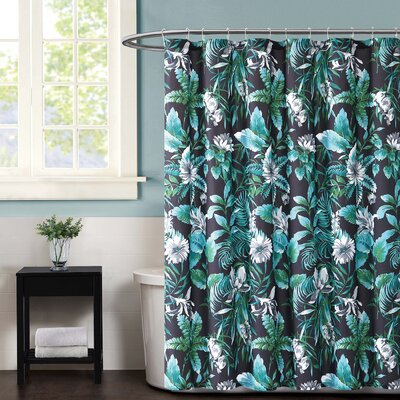 Tropicalia Shower Curtain Color: Black