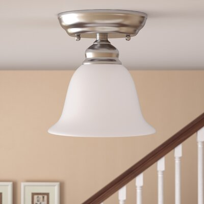 Cicco 1-Light Semi Flush Mount Finish: Brushed Nickel