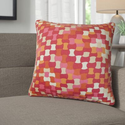 Alaya Geometric Cotton Throw Pillow Color: Berry