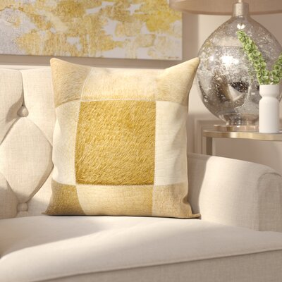 Sulphur Leather Throw Pillow Color: Beige