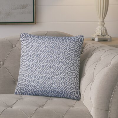 Talevi Geometric Throw Pillow Color: Navy