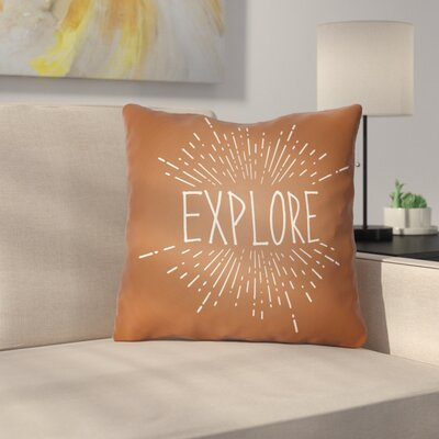 Marina Indoor/Outdoor Throw Pillow Size: 18 H x 18 W x 4 D, Color: Brown
