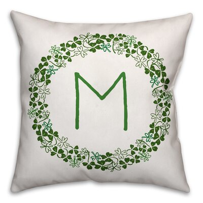 Velazquez Clover Monogram Throw Pillow