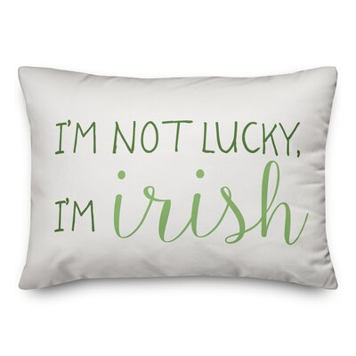 Hutson Im Not Lucky Im Irish Lumbar Pillow