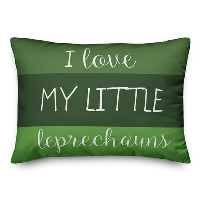 Hutson I Love My Little Leprechauns lumbar Pillow