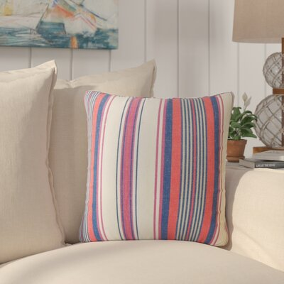 Brahms Striped Cotton Throw Pillow Color: Blossom