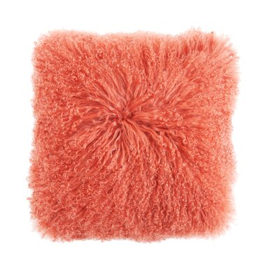 Eileen Mongolian Lamb Fur Throw Pillow