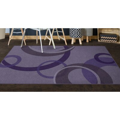 Jakarta Contemporary Geometric Purple Area Rug Rug Size: Rectangle 76 x 10