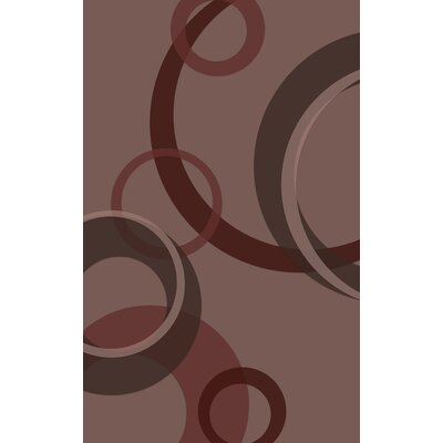 Jakarta Contemporary Geometric Brown Area Rug Rug Size: Rectangle 76 x 10
