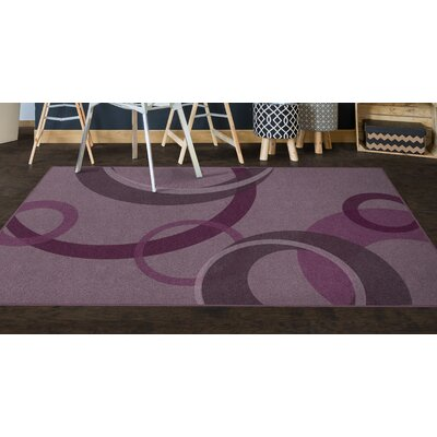 Jakarta Contemporary Geometric Magenta AreaRug Rug Size: Rectangle 5 x 8