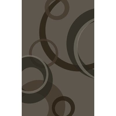Jakarta Contemporary Geometric Gray Area Rug Rug Size: Rectangle 76 x 10