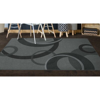 Jakarta Contemporary Geometric Gray Area Rug Rug Size: Rectangle 26 x 310