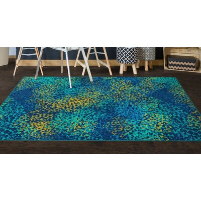 Husman Blue Area Rug Rug Size: Rectangle 34 x 5