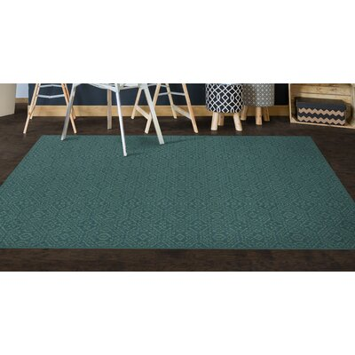 Cragin Teal Area Rug Rug Size: Rectangle 34 x 5