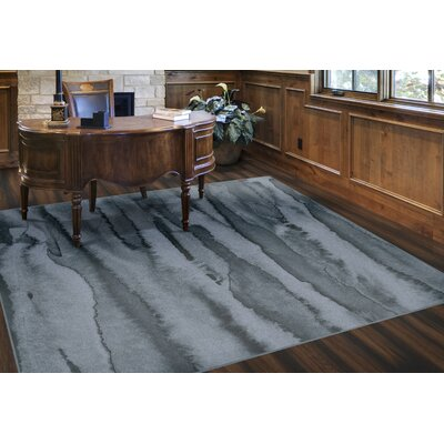 Craighead Modern Blue Area Rug Rug Size: Rectangle 76 x 10