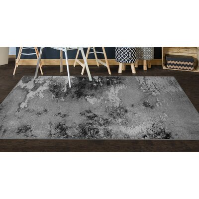 Crain Gray Area Rug Rug Size: Rectangle 34 x 5