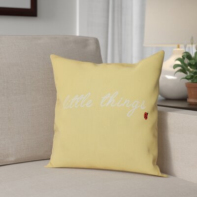 Scotland Little Things Throw Pillow Size: 16 H x 16 W, Color: Yellow
