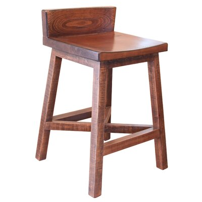 Pueblo 24 Bar Stool Color: Brown