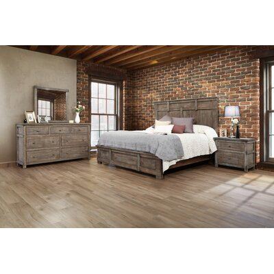 San Angelo Low Profile Panel Footboard with Rail Size: King