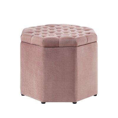 Protagoras Upholstered Ottoman Upholstery: Blush Velvet