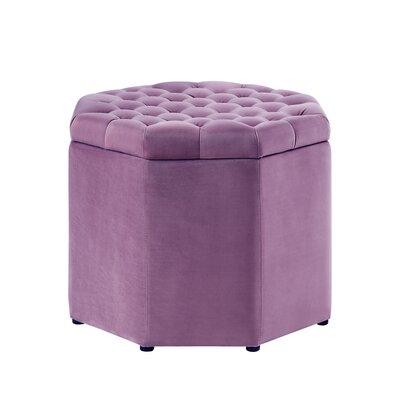 Protagoras Upholstered Ottoman Upholstery: Mauve Velvet