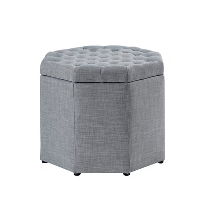 Protagoras Storage Ottoman Upholstery: Light Gray Linen, Size: Medium