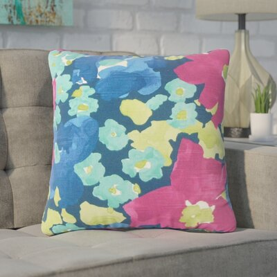 Yonkers Floral Cotton Throw Pillow Color: Pink