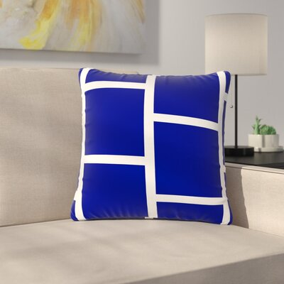 NL designs Square Blocks Pattern Outdoor Throw Pillow Size: 18 H x 18 W x 5 D