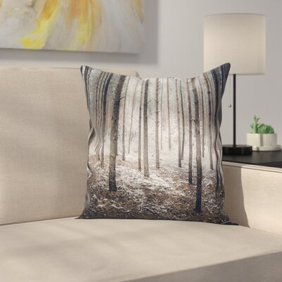 Forest Nature Mystic Square Pillow Cover Size: 18 x 18