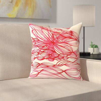Paula Mills Swirl Throw Pillow Size: 16 x 16