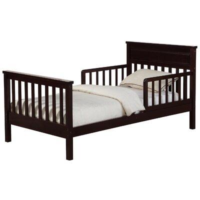Cameron Toddler Slat Bed Bed Frame Color: Espresso
