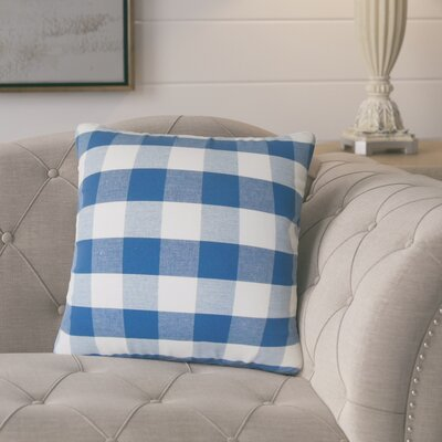 Meis Plaid Cotton Throw Pillow