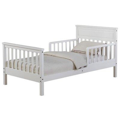 Cameron Toddler Slat Bed Bed Frame Color: White