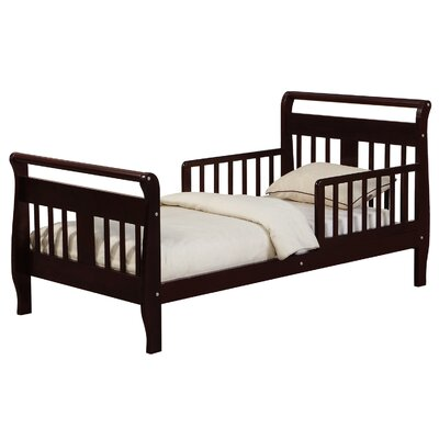 Haley Toddler Sleigh Bed Bed Frame Color: Espresso