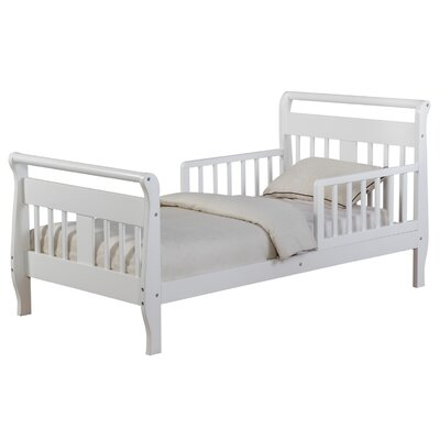 Haley Toddler Sleigh Bed Bed Frame Color: White