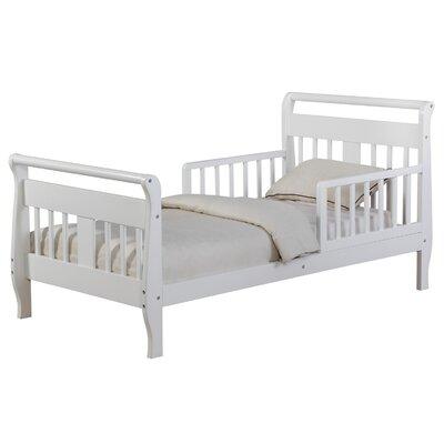 Haley Toddler Sleigh Bed Bed Frame Color: White