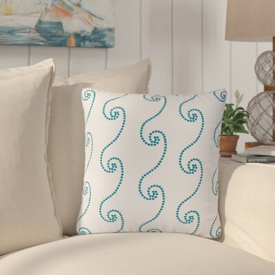 Belkaya Waves 100% Cotton Throw Pillow