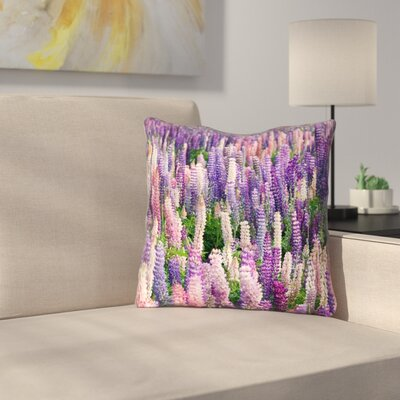 Joyeta Lavender Field Outdoor Throw Pillow Size: 16 x 16